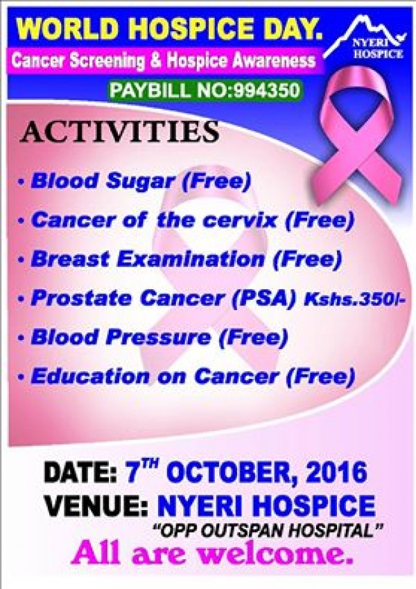 Cancer Screening and Hospice Awareness
