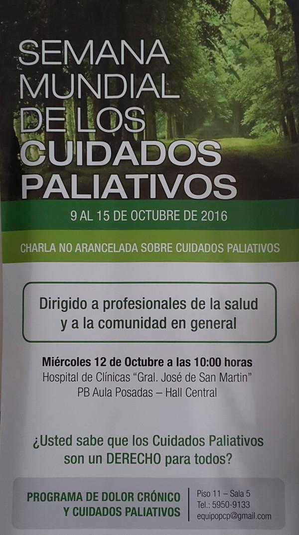 SEMANA MUNDIAL DE LOS CUIDADOS PALIATIVOS HOSPITAL DE CLÍNICAS