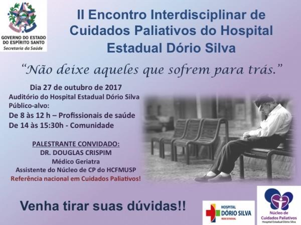 II Encontro Interdisciplinar de Cuidados Paliativos do Hospital Estadual Dório Silva