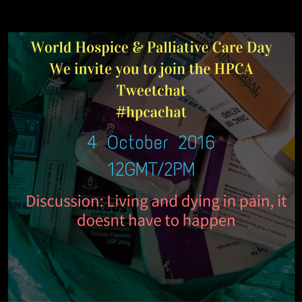Tweetchat - Living and dying in pain it doesn't have to happen.